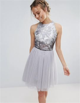 Tulle Belted Prom Dress
