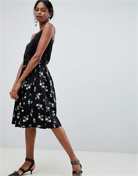 Floral Pleated Prom Skirt