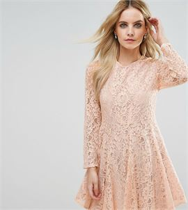 Allover Lace Prom Skater Dress
