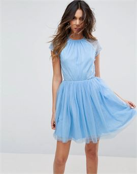PREMIUM Lace Tulle Mini Prom Dress