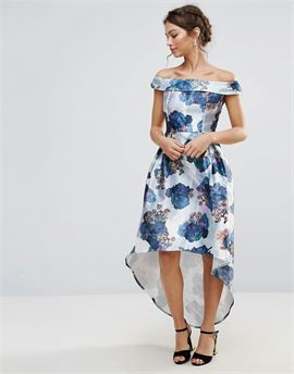 Bardot Prom Skater Dress In Floral Print