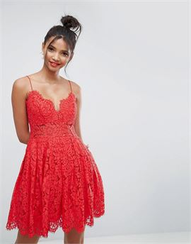 Lace Cami Mini Prom Dress