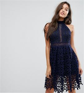 Allover Lace Prom Dress
