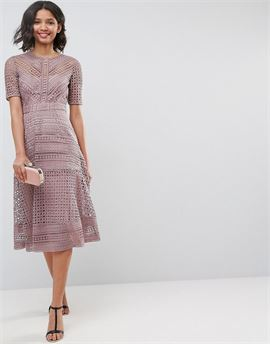 PREMIUM Occasion Lace Midi Dress