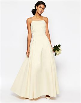 BRIDAL Extreme Sateen Maxi Prom Dress