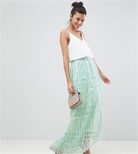 ASOS DESIGN Tall lace maxi prom skirt