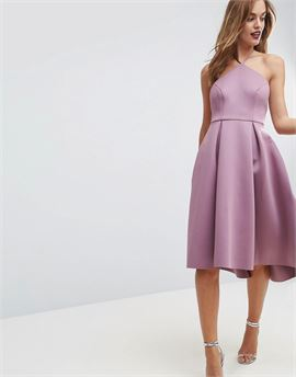 Halter Neck Prom Midi Dress