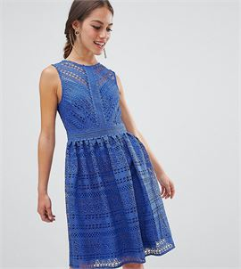 all over lace prom midi skater dress