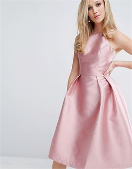 Structured Satin Prom Dress