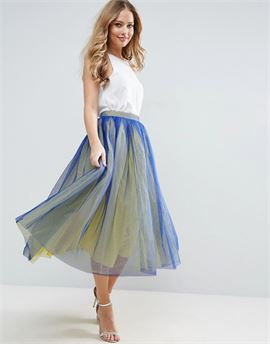Tulle Prom Skirt with Two Colour Layers
