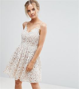 Allover Premium Lace Full Prom Mini Skater Dress