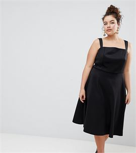 ASOS DESIGN Curve Square Neck Prom Dress