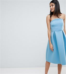 ASOS DESIGN Tall bandeau crop top prom midi dress