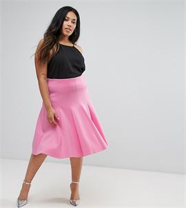 Prom Skirt with High Waist in Scuba