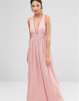 Plunge Front Open Back Prom