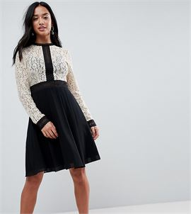 All Over Lace Top Dress With Prom Skater Skirt